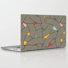Modern Scandinavian Multi Colour Color Curve Graphic Laptop & iPad Skin