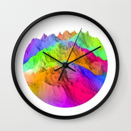 Holopunk Mountains Wall Clock