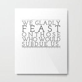 Not just pretty words. Metal Print