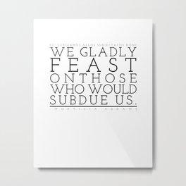 Not just pretty words. Metal Print