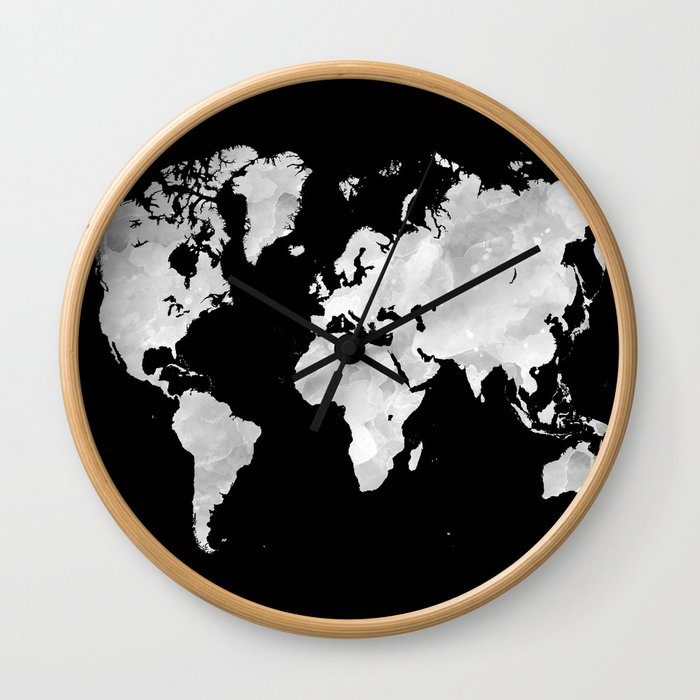 Design 70 World Map Wall Clock By Artbylucie Society6