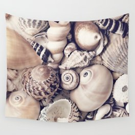 Vintage  Sea Shell Collection Coastal Style Wall Tapestry