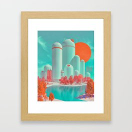SATURATED FUTURE (everyday 12.08.17) Framed Art Print