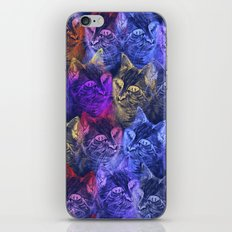 PRECIOUS GLITTER CAT NEON PERIWINKLE BLUE iPhone & iPod Skin