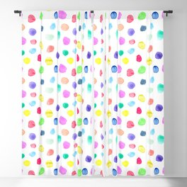 Watercolor confetti Blackout Curtain