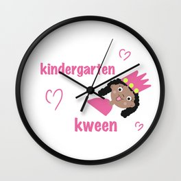 Kindergarten Kween Wall Clock