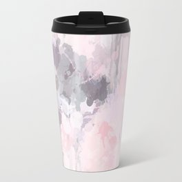 Modern Contemporary soft Pastel Pink Grey Abstract Travel Mug