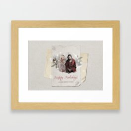 OUAT HAPPY HOLIDAYS // Swan Queen Framed Art Print