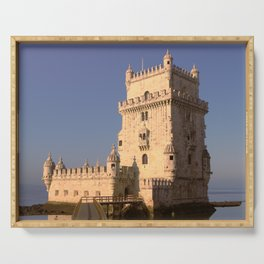 Belem Tower in Lisbon Serving Tray