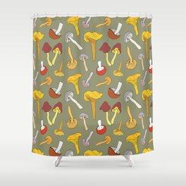 Wild Mushroom Toss in Dill Shower Curtain