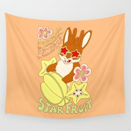 Jackalope and Starfruit Wall Tapestry