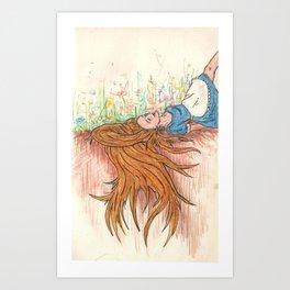 In the garden of Live Flowers Alice took root Art Print
