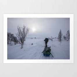 Up to Dovrefjell Art Print
