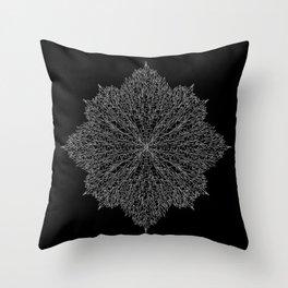 flower line art - black Throw Pillow