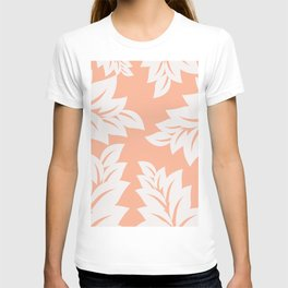 tropical coral leaves T-shirt