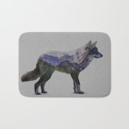 The Rocky Mountain Gray Wolf Bath Mat