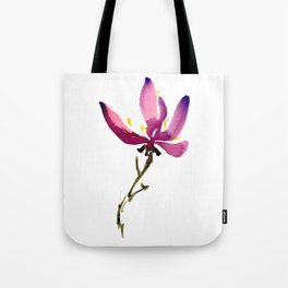Single Orchid Tote Bag