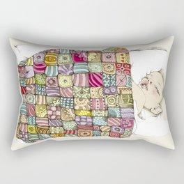 sleeping child Rectangular Pillow