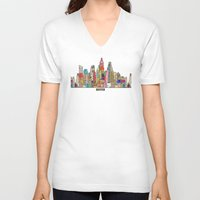 texas V-neck T-shirts featuring Austin texas by bri.buckley