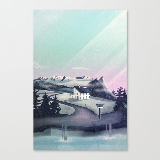 Alpine Island Canvas Print