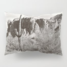 Saguaro in black and white Pillow Sham
