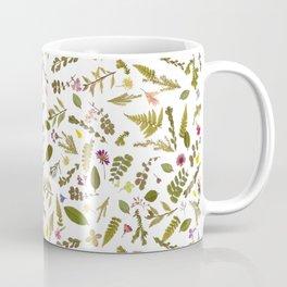 Greenery Floral Pressed Flowers Coffee Mug