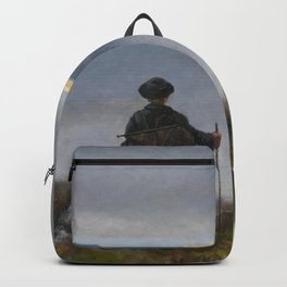 Theodor Kittselsen - Far, far away Soria Moria Palace shimmered like Gold (1900) Backpack