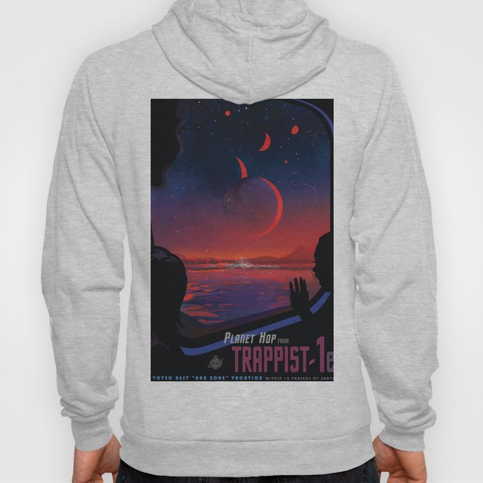 NASA Retro Space Travel Poster #13 - TRAPPIST-1e Hoody