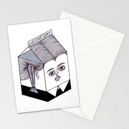 Wednesday Addams Milk Carton Stationery Cards