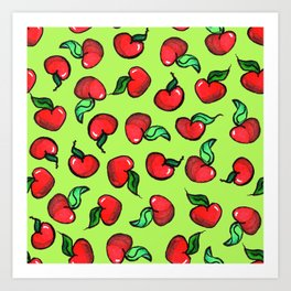 Small Apple Hears Art Print
