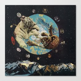 Tigers in Space Canvas Print