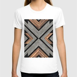 Urban Tribal Pattern No.2 - Concrete and Wood T-shirt