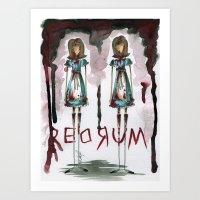 Redrum Art Print