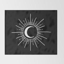 Moonshine White Throw Blanket