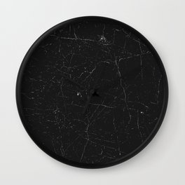 Black distressed marble texture Wall Clock