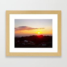 Sunset on the Slum Framed Art Print