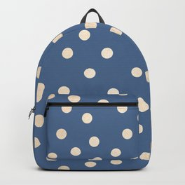 Simply Dots White Gold Sands on Aegean Blue Backpack