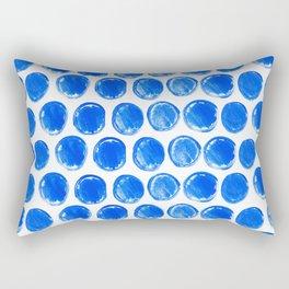 Blue acrylic circles pattern Rectangular Pillow