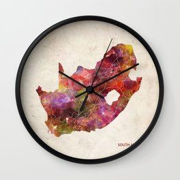 South Africa map Wall Clock