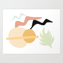 Birds, Sun, Plants Art Print