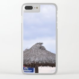 palm tree on the beach and in the sky, travel for leisure, Mallorca and enjoy Clear iPhone Case