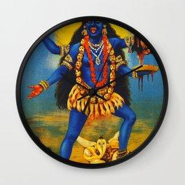 Kali By Raja Ravi Painting Wall Clock