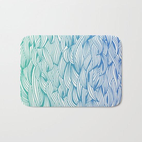 Ombré Waves Bath Mat