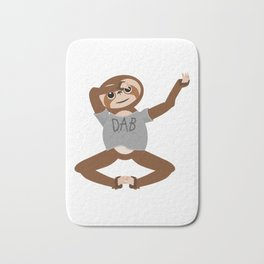 Sloth Dabbing Bath Mat