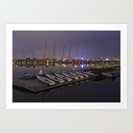 Charles River Boats Clear Water Reflection Art Print