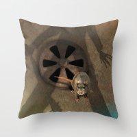 fear Throw Pillows featuring fear by ErsanYagiz