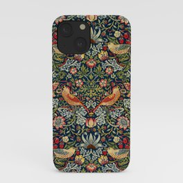 Strawberry Thief by William Morris 1883 Antique Vintage Pattern CC0 Spring Summer iPhone Case