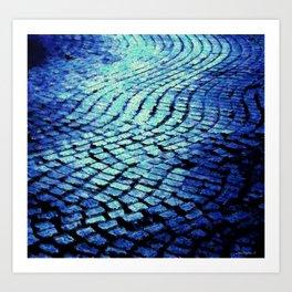 Blue Avenue Art Print