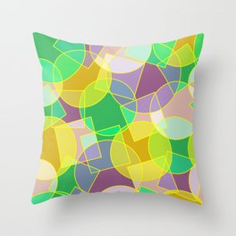 Colorful abstract geometric pattern Throw Pillow
