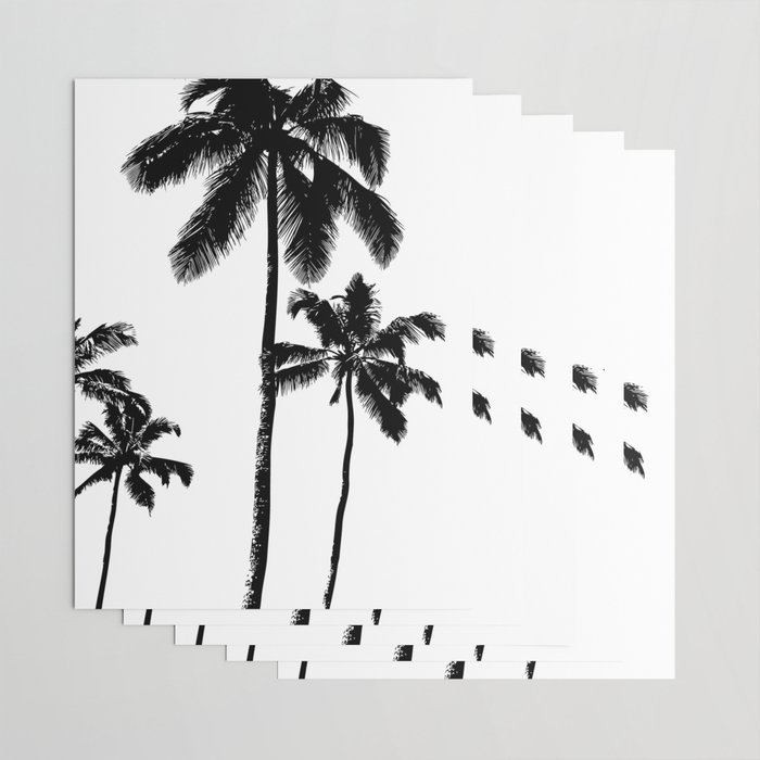 Monochrome tropical palms Wrapping Paper
